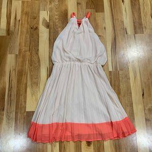 PAPAYA Halter Top Keyhole Pink Sleeveless Dress